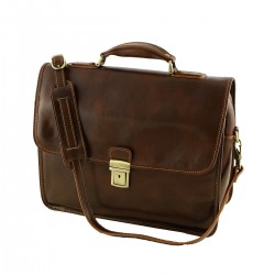 Leather Briefcases - 4006 - Genuine Leather Bag