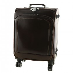 Leather Trolley - 6008 - Leather Travel Bag