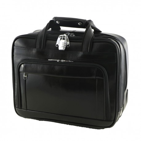 Leather Trolley - 6009 - Leather Travel Bag