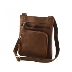 Leather Man Bag - 2034 - Genuine Leather Bags - Made in Italy