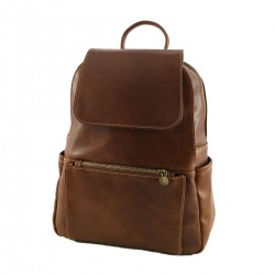 Leather Backpack - 3009 - Genuine Leather Bags