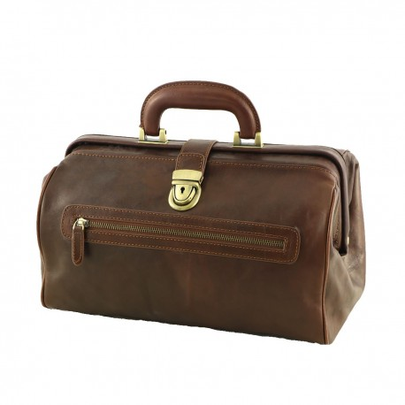 Medical Leather Bag - 5004 - Genuine Leather Bags