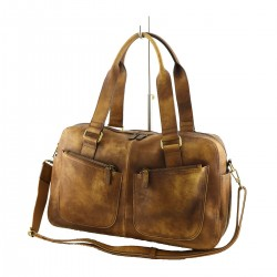 Leather Travel Bag - 6010 - Genuine Leather Bags