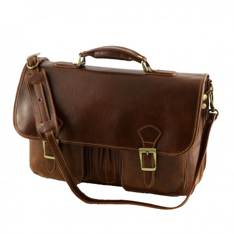 Leather Business Briefcases - 4004 - Genuine Leather Bag