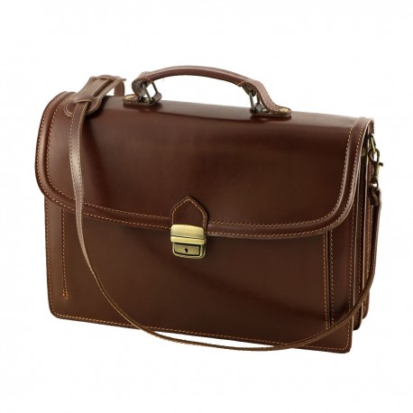 Leather Briefcases - 4019 - Genuine Leather Bags