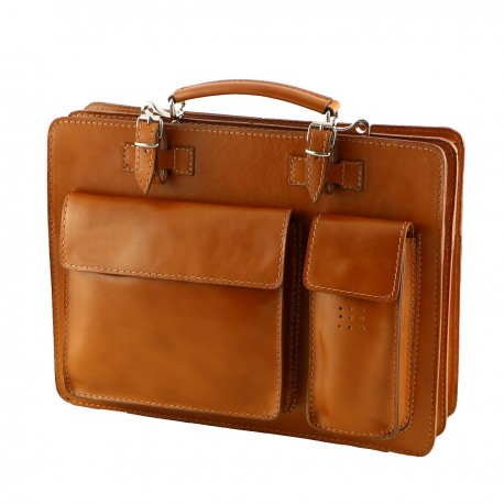 Leather Business Briefcases - 4021 - Genuine Leather Bags