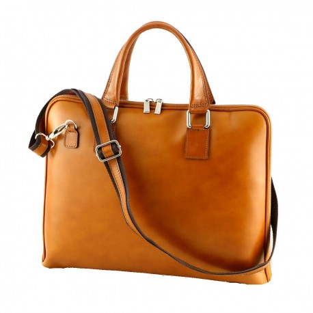 Leather Briefcase - 4022 - Genuine Leather Bags