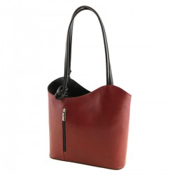 BICOLOR - Leather Bags Womens - 1070 - Shoulder Bag / Backpack