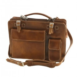 Leather Briefcase - 4028 - Genuine Leather Bags