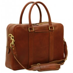 Genuine Leather Briefcase - FLB0301- Leather Bags Florentine