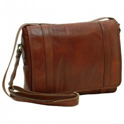 Genuine Leather Messenger Bag - FLB0304 - Leather Bags Florentine