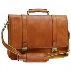 Aktentasche aus Echtleder - FLB0309 - Leder Taschen Florentine