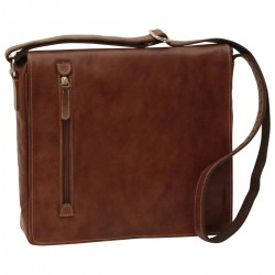 Genuine Leather Messenger Bag - NW0726 - Leather Bags New World