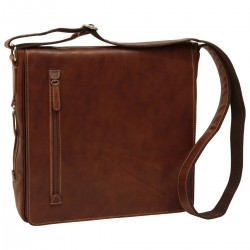 Genuine Leather Messenger Bag - NW0731 - Leather Bags New World