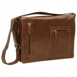 Genuine Leather Messenger Bag - NW0736 - Leather Bags New World