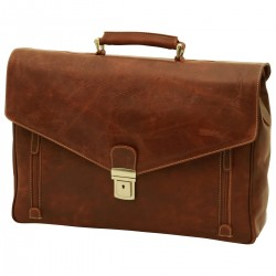 Genuine Leather Briefcase - NW0737 - Leather Bags New World