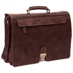 Genuine Leather Briefcase - NW0738 - Leather Bags New World