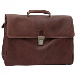 Genuine Leather Briefcase - NW0740 - Leather Bags New World
