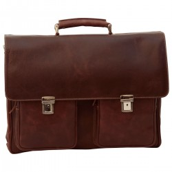 Genuine Leather Briefcase - NW0743 - Leather Bags New World