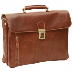 Aktentasche aus Echtleder - NW0758 - Leder Taschen New World