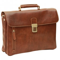Genuine Leather Briefcase - NW0758 - Leather Bags New World