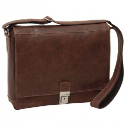 Genuine Leather Messenger Bag - NW0782 - Leather Bags New World
