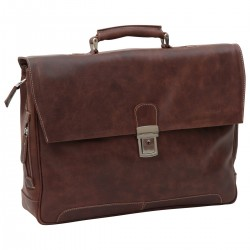Genuine Leather Briefcase - NW0821 - Leather Bags New World