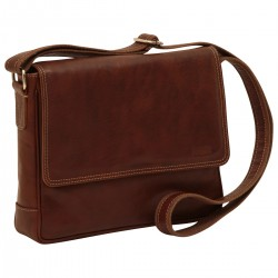Genuine Leather Messenger Bag - NW0877 - Leather Bags New World