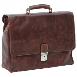 Genuine Leather Briefcase - NW0878 - Leather Bags New World