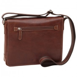 Genuine Leather Messenger Bag - NW4104 - Leather Bags New World