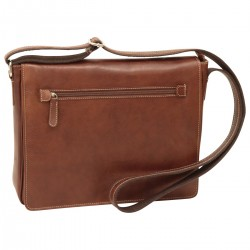 Genuine Leather Messenger Bag - NW4105 - Leather Bags New World