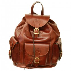 Genuine Leather Backpack - TLB1091 - Luxury - Leather Bags Toscana