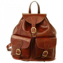 Genuine Leather Backpack - TLB1093 - Luxury - Leather Bags Toscana