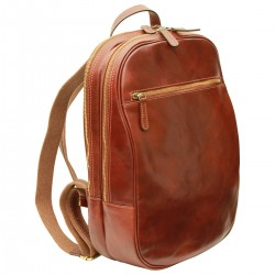 Genuine Leather Backpack - TLB4080 - Luxury - Leather Bags Toscana