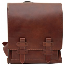 Genuine Leather Backpack - TLB4116 - Luxury - Leather Bags Toscana
