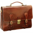 Genuine Leather Briefcase - TLB0053 - Luxury - Leather Bags Toscana