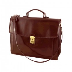 Leather Business  Briefcase - 4020 - Genuine Leather Bags