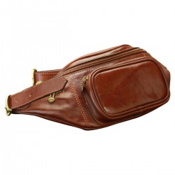 Leather Waist/Bum Bag - TLB2030 - Luxury - Leather Bags Toscana