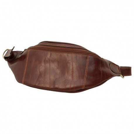 Leather Waist/Bum Bag - TLB2031 - Luxury - Leather Bags Toscana