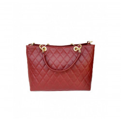 Women's Handbags - 1085 - Large - Leather Shoulder Bag