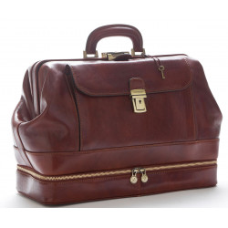 Doctor Bag in Leather - 0201 - Made in Italy