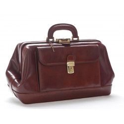 Leather Doctor Bag - 0202 - Made in Italy