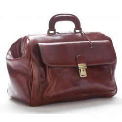 Doctor Bag in Genuine Leather - 0203 - Made in Italy