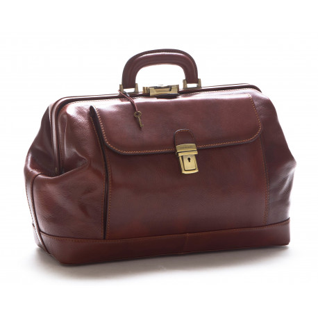 Genuine Leather Doctor Bag - 0204 - Made in Italy
