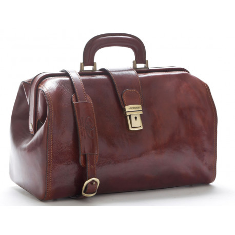 Doctor Bag in Leather - 0205 - Made in Italy