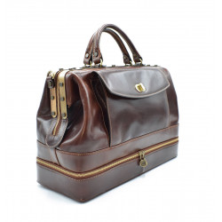 Doctor Bag in Genuine Leather  - 0206 - Made in Italy