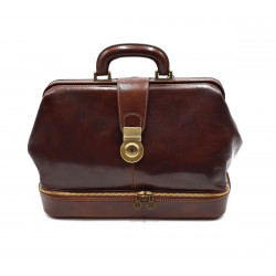 Doctor Bag in Leather - 0208 - Made in Italy