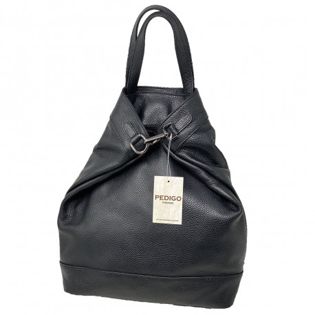 Leather Shopper Backpack - 3020 - Genuine Leather Bags